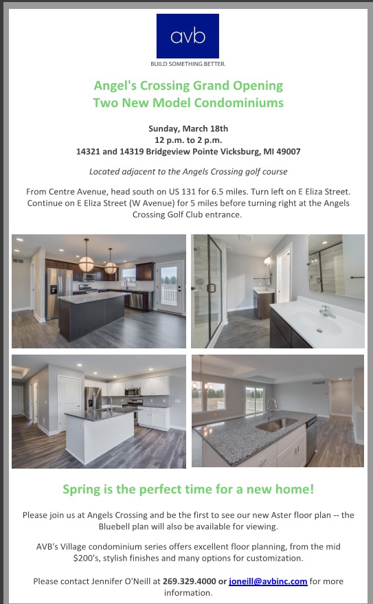 AVB Angels Crossing Condominiums Grand Opening Ceremony March 18, 2018